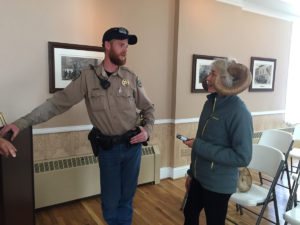 Joe Walter, Colorado Parks and Wildlife, and Erica Prather. Big horn sheep segment.